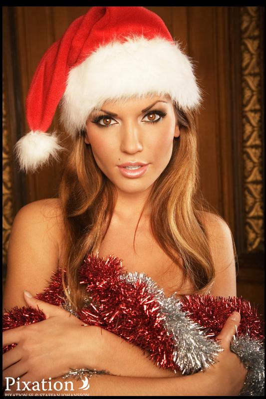 tube femme Noël